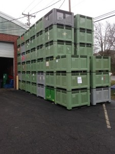 used vented bulk bins