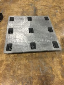 Used 45 x 45 Nestable Solid Top Plastic Pallets